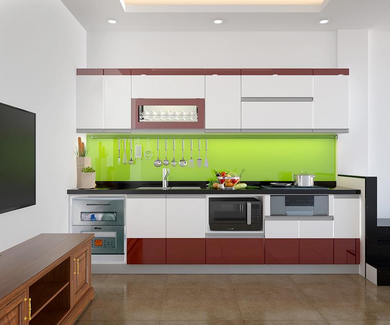 Tủ bếp Acrylic NHA-001