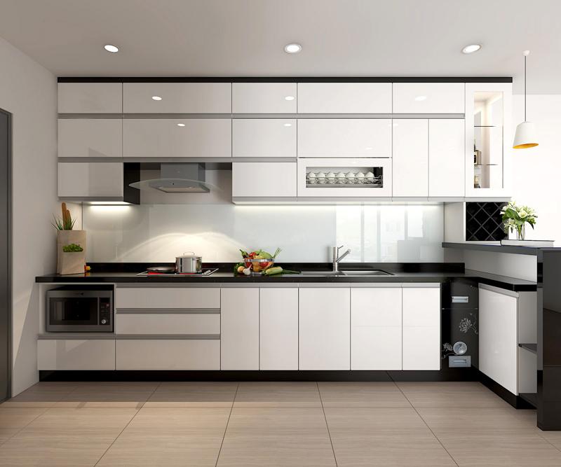 Tủ bếp Acrylic NHA-002