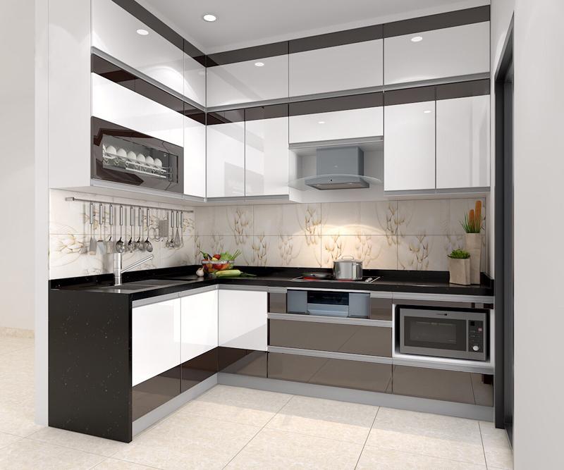 Tủ bếp Acrylic NHA-003