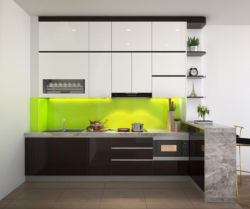 Tủ bếp Acrylic NHA-004