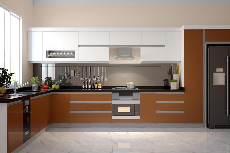 Tủ bếp Acrylic NHA-008