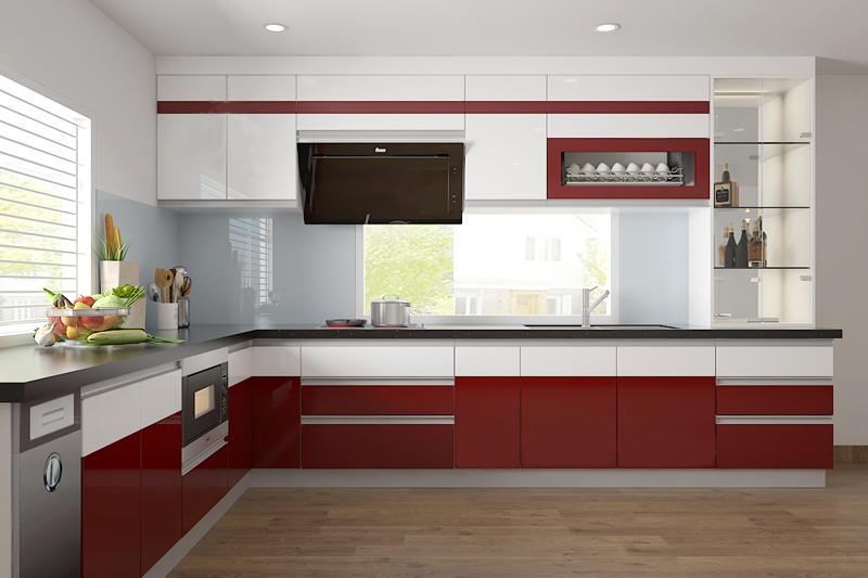 Tủ bếp Acrylic NHA-011