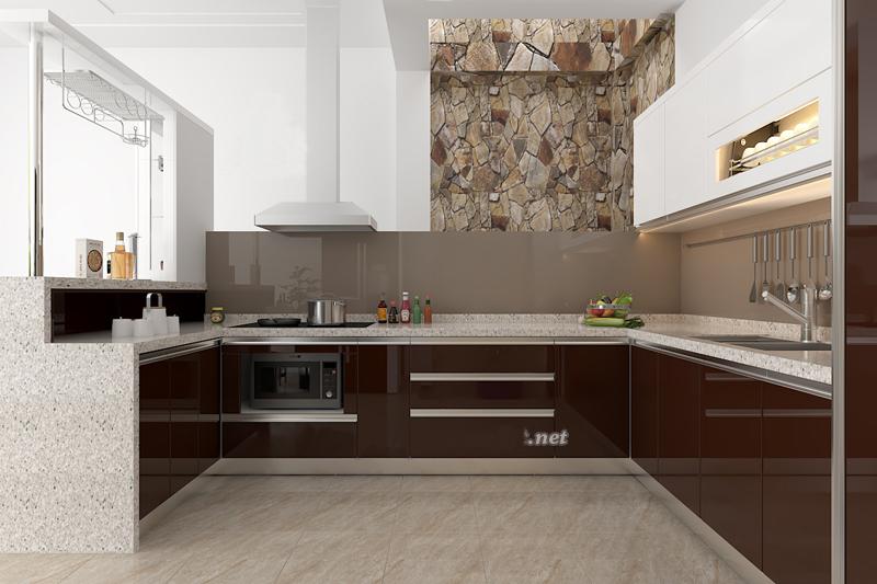 Tủ bếp Acrylic NHA-016