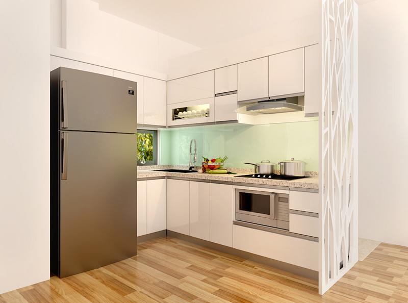 Tủ bếp Acrylic NHA-017