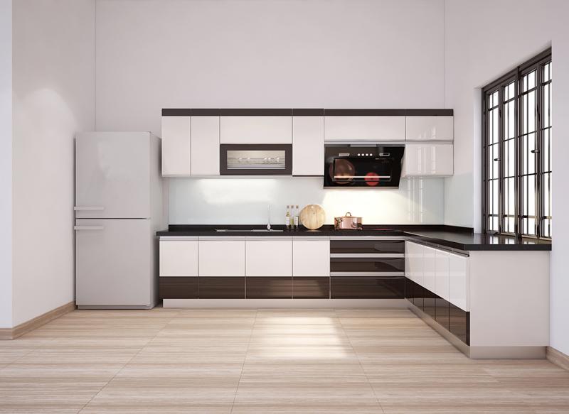 Tủ bếp Acrylic NHA-018