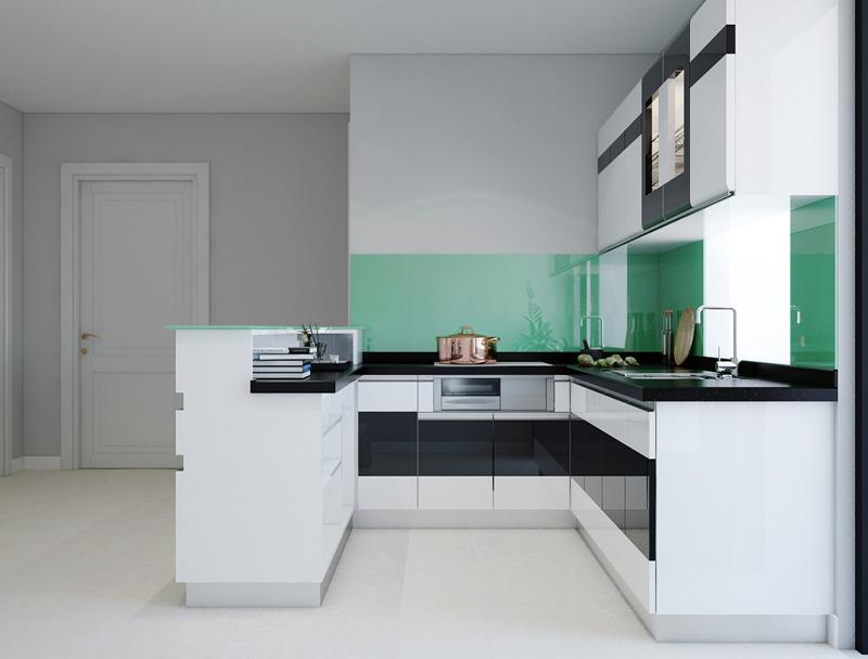 Tủ bếp Acrylic NHA-020