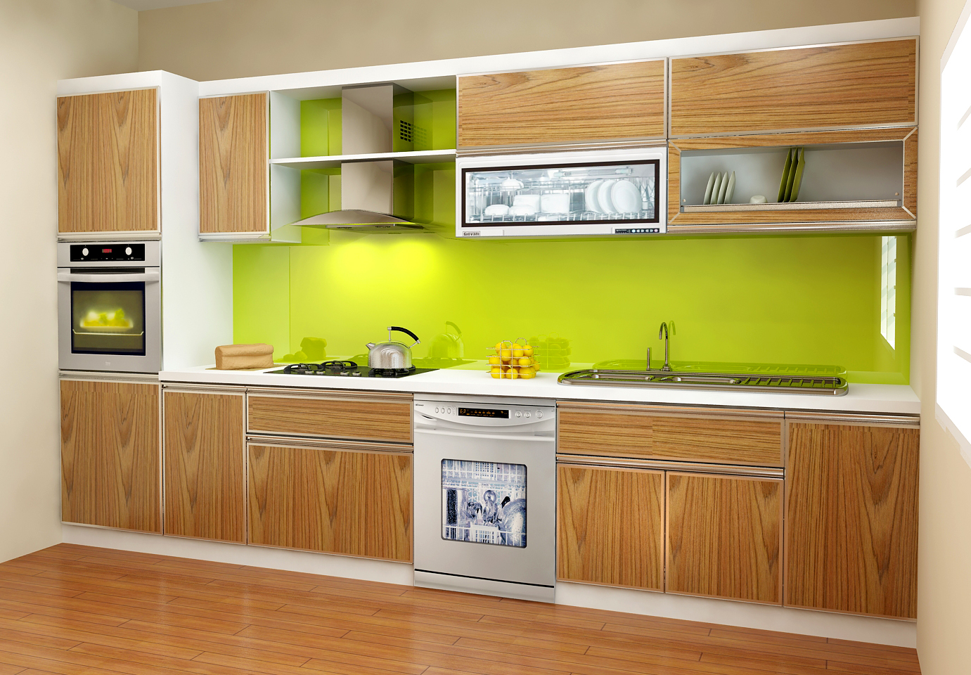 Tủ bếp Laminate NHL-001