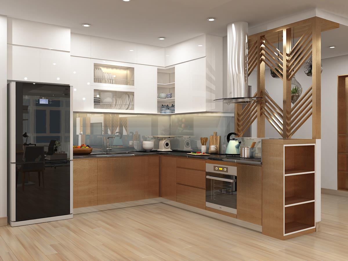 Tủ bếp Laminate NHL-007