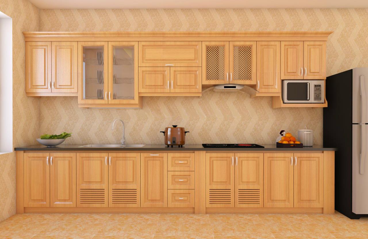 Tủ bếp gỗ sồi NHS-006