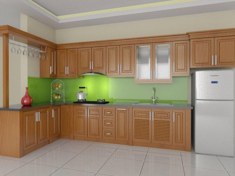 Tủ bếp gỗ sồi NHX-007