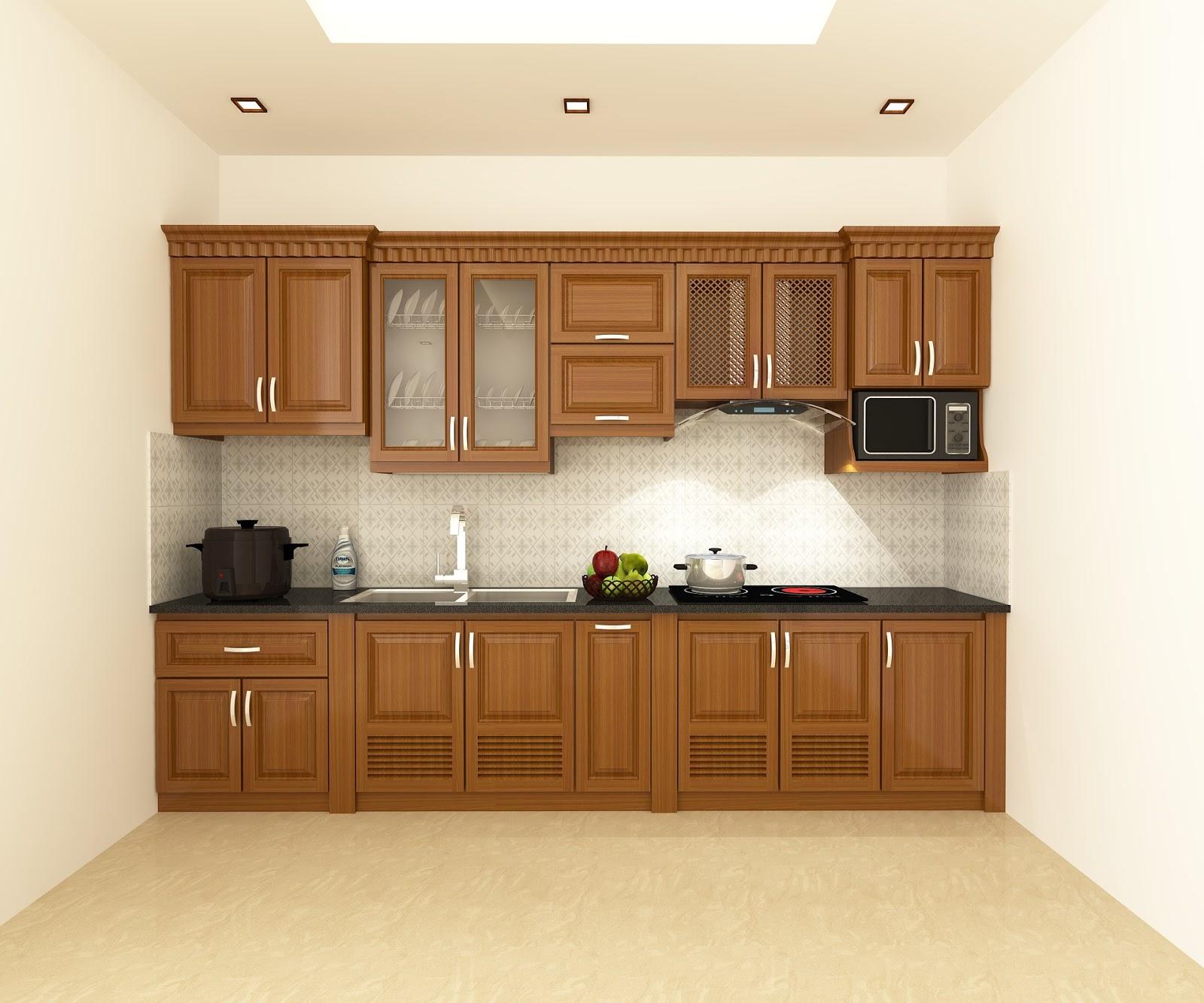 Tủ bếp gỗ sồi NHX-008