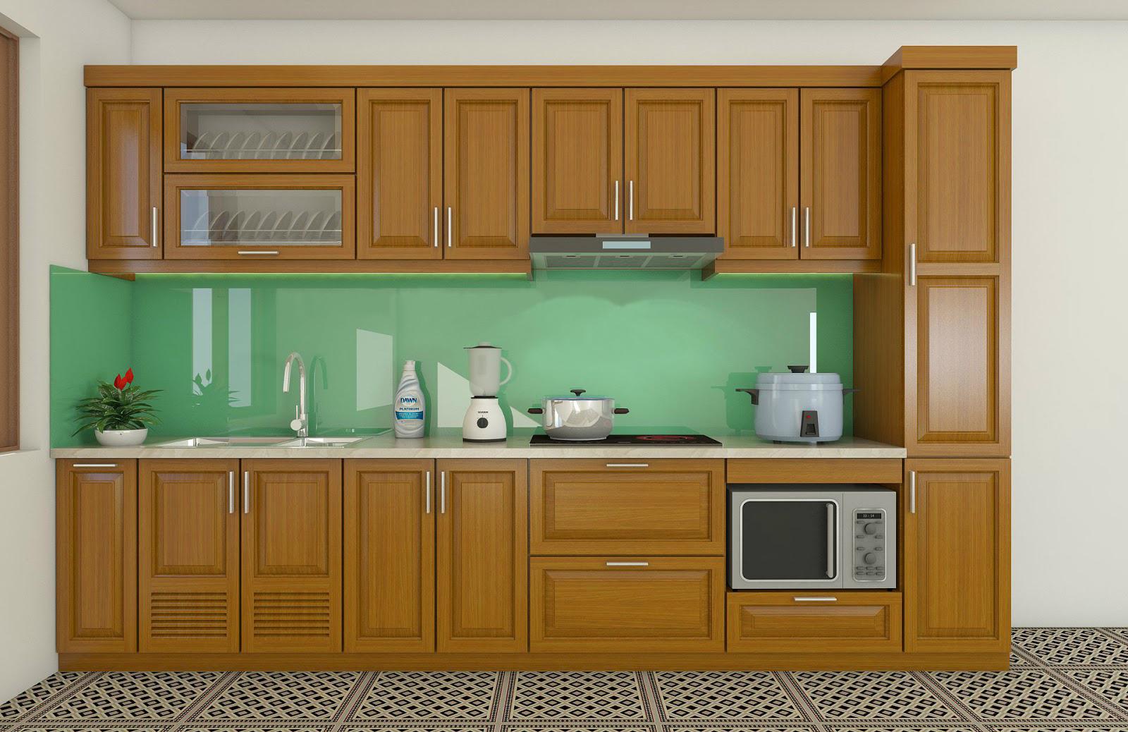 Tủ bếp gỗ sồi NHX-010
