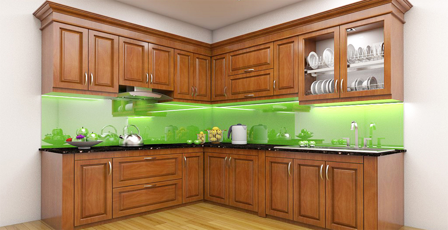Tủ bếp gỗ sồi NHX-011