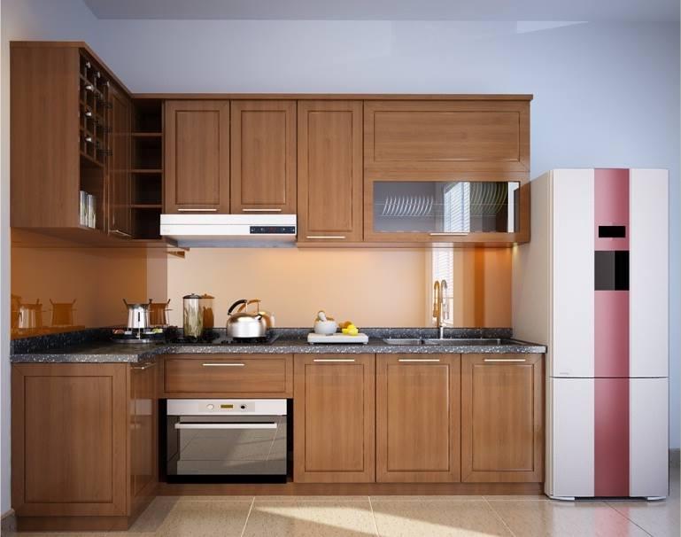 Tủ bếp gỗ sồi NHX-012