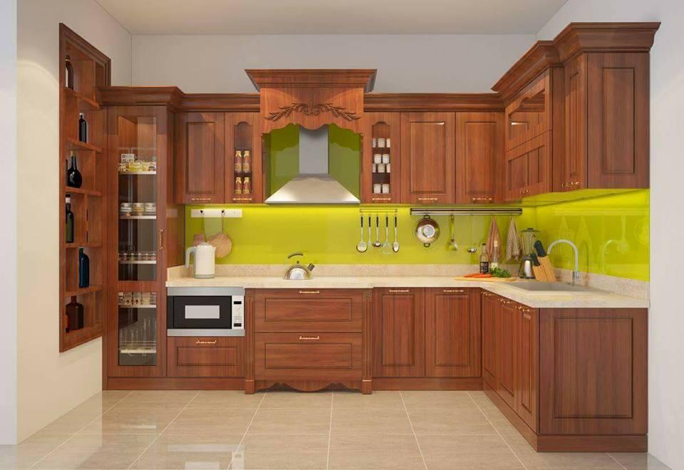 Tủ bếp gỗ sồi NHX-016